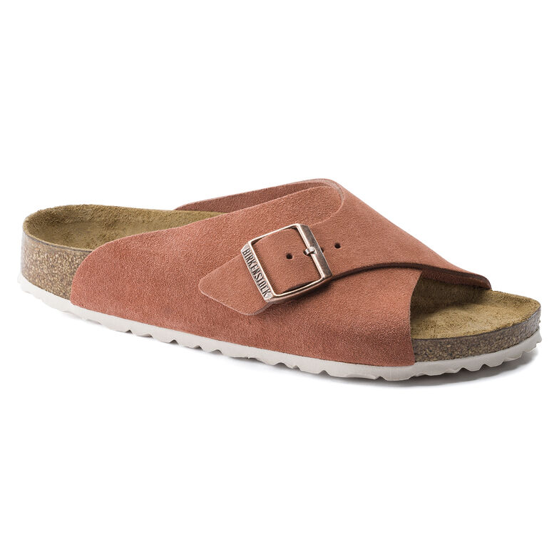 Arosa Suede Leather Earth Red