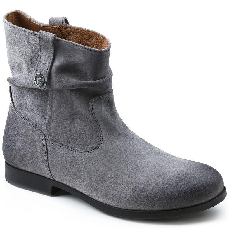Sarnia Suede Leather Grey