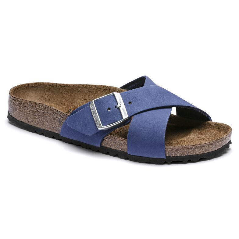 Siena Nubuck Leather Azure Blue