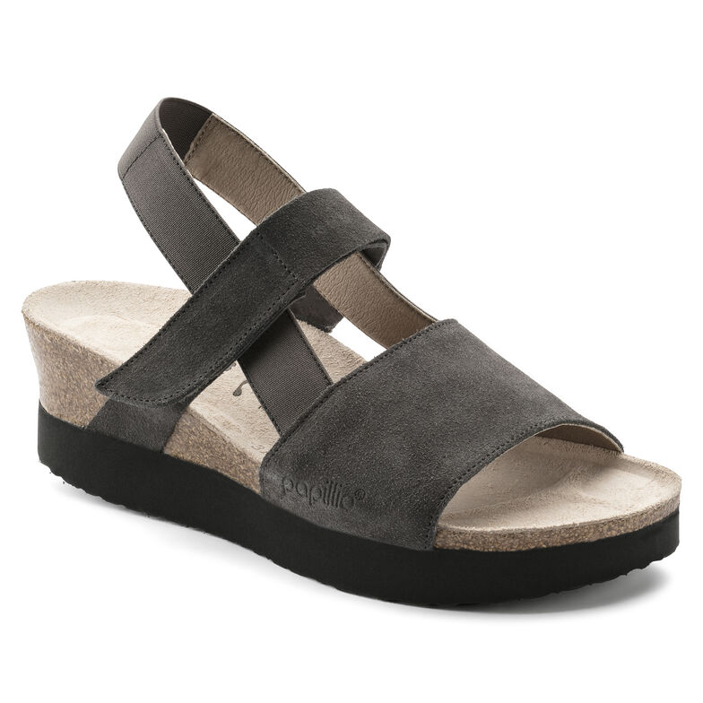 Linda Suede Leather/Stretch Smooth Anthracite