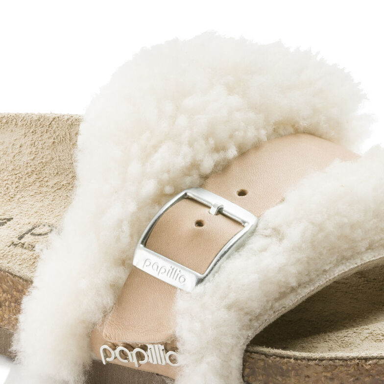 Carmen Natural Leather/Fur Shearling Offwhite