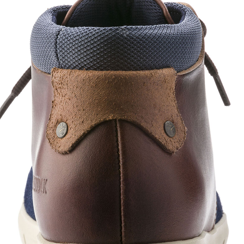 Estevan Suede Leather Blue/Brown