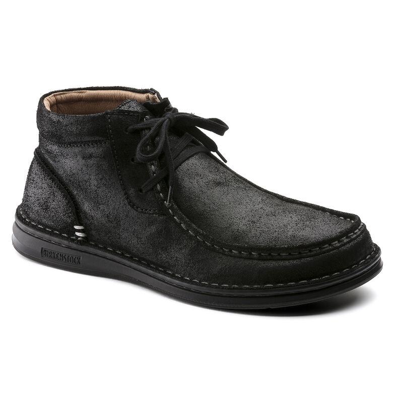 Pasadena Suede Leather Black