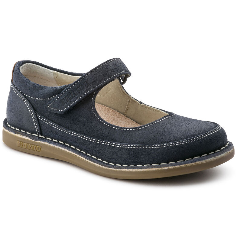 June Suede Leather Dark Blue
