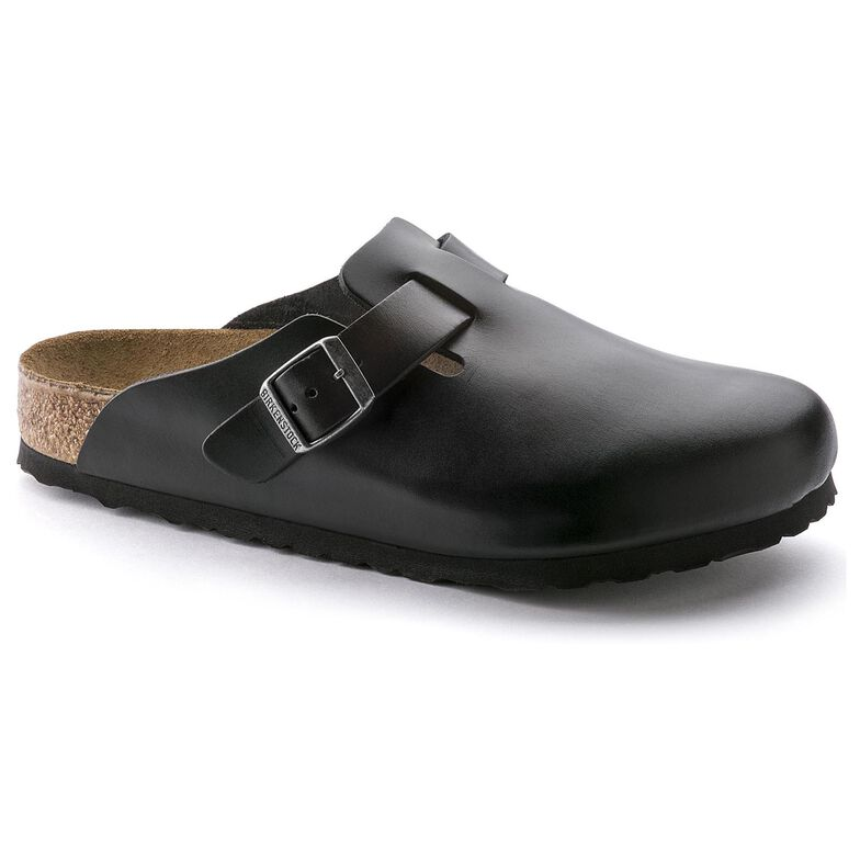 Boston Oiled Leather Soft Footbed Amalfi Black