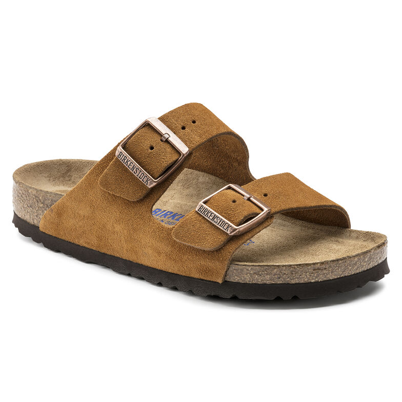 Arizona Suede Leather Soft Footbed Mink
