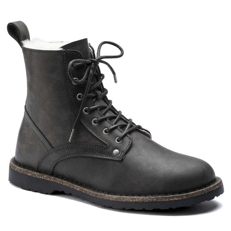 Bryson Shearling  Suede Leather Graphite