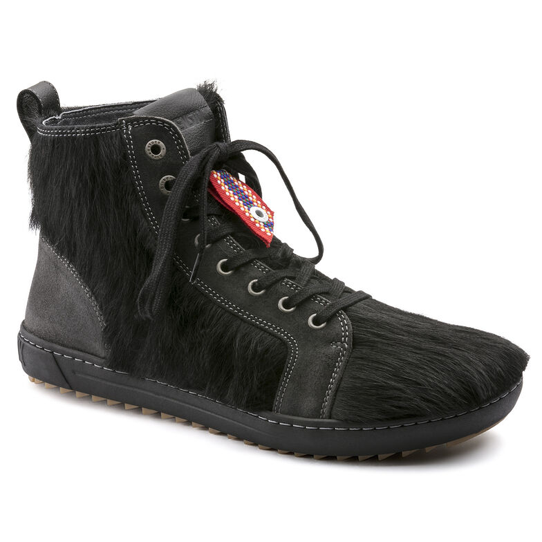 Bartlett Natural Leather/Fur Black