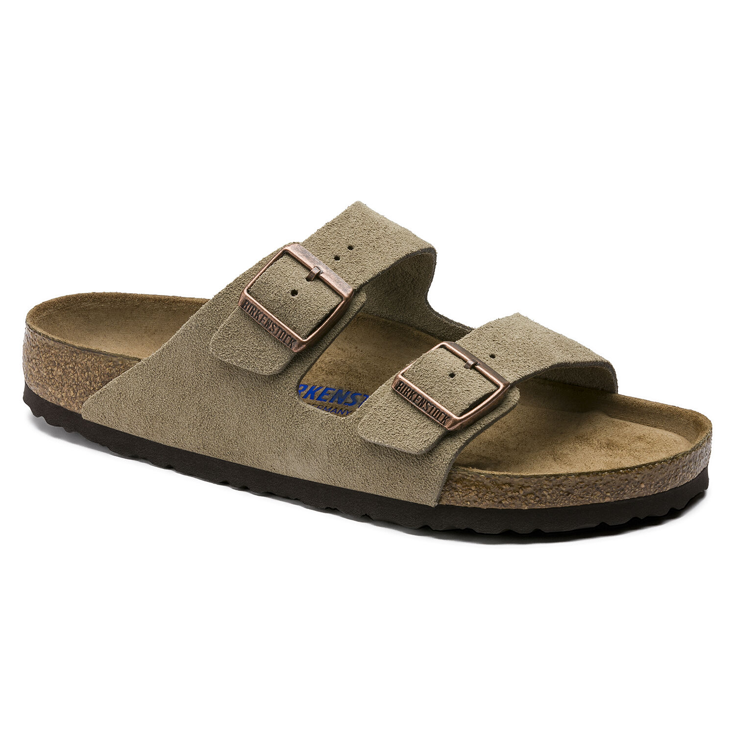 839bc991d Arizona Suede Leather Soft Footbed Taupe