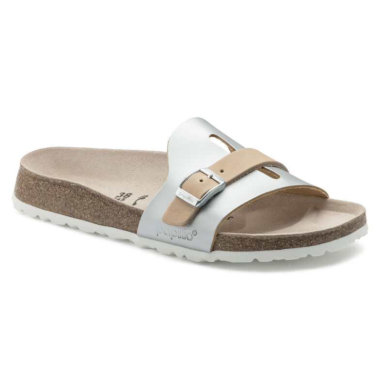 Carmen Natural Leather Frosted Metallic Silver