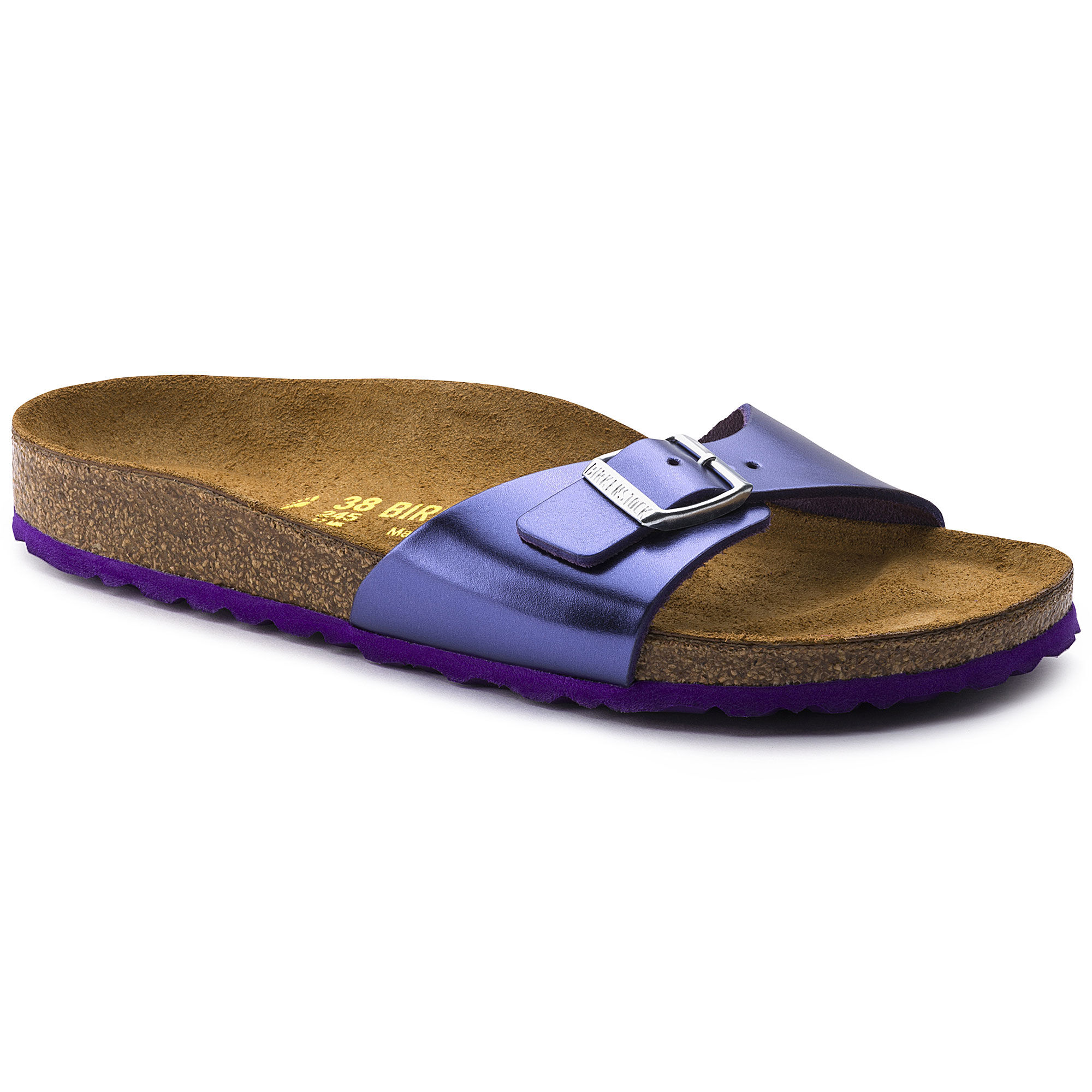 Madrid, Mules Femmes, Bleu (Washed Metallic Blue Silver Washed Metallic Blue Silver), 38 EUBirkenstock