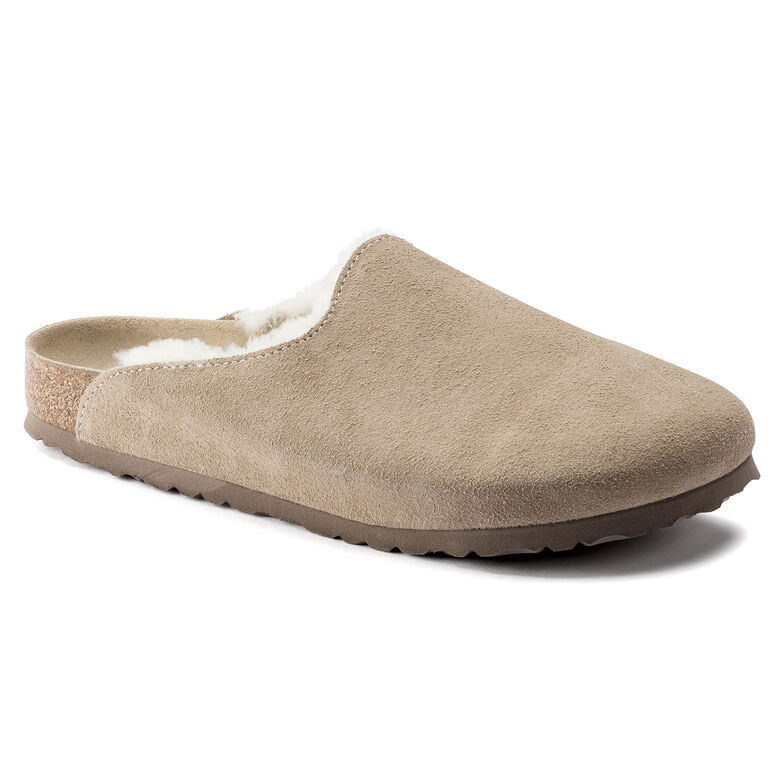Amsterdam Shearling  Suede Leather Taupe