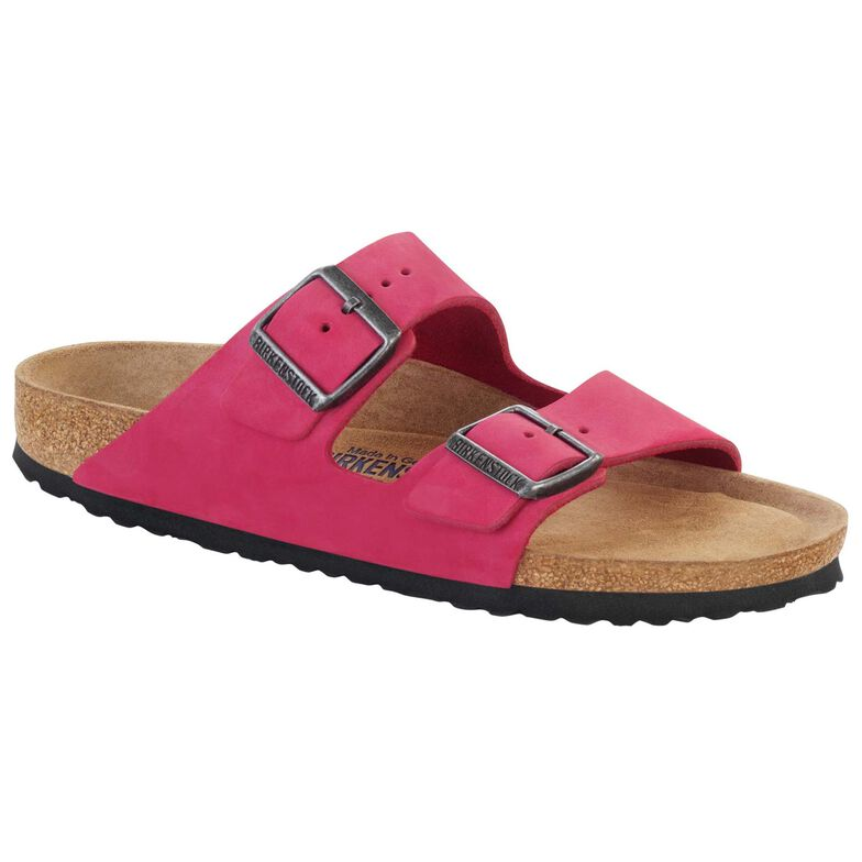 Arizona Nubuck Leather Soft Footbed Pink