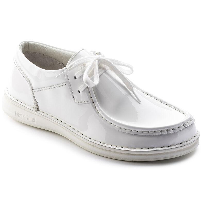Pasadena Embossed Leather Patent White
