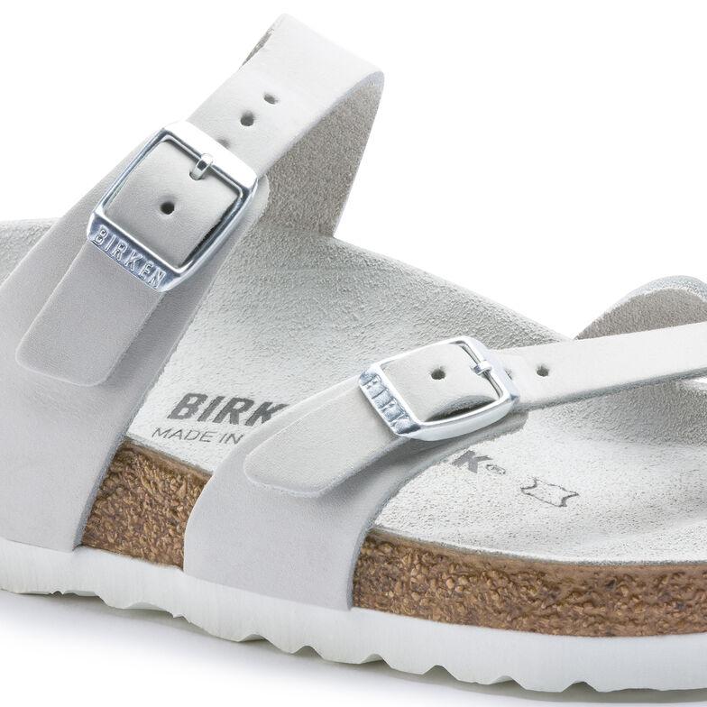 Mayari Nubuck Leather White