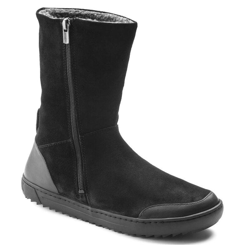 Fossholl Suede Leather Black