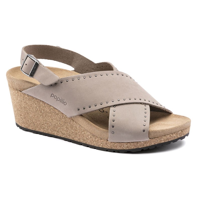Samira Nubuck Leather Biscuit Rivets