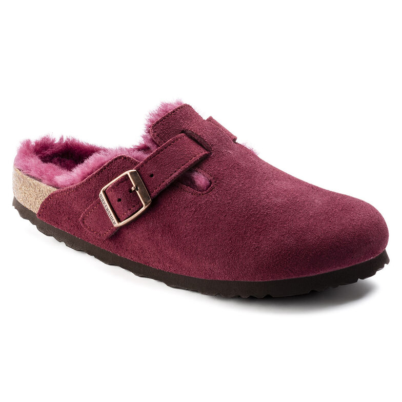 Boston Suede Leather Bordeaux