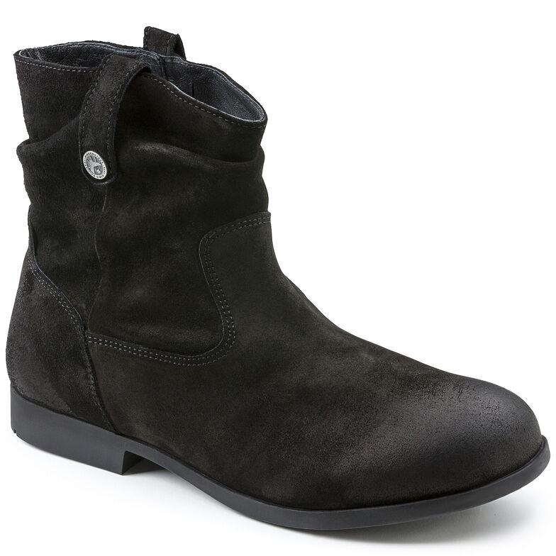 Sarnia Suede Leather Schwarz