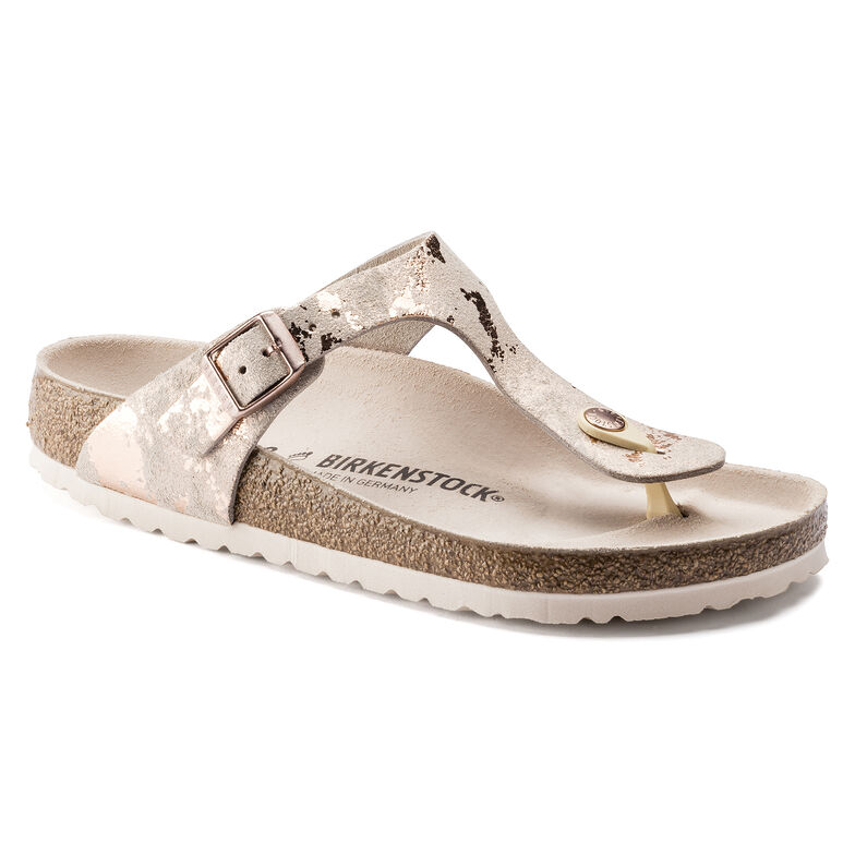 Gizeh  Suede Leather Vintage Metallic Rose Copper