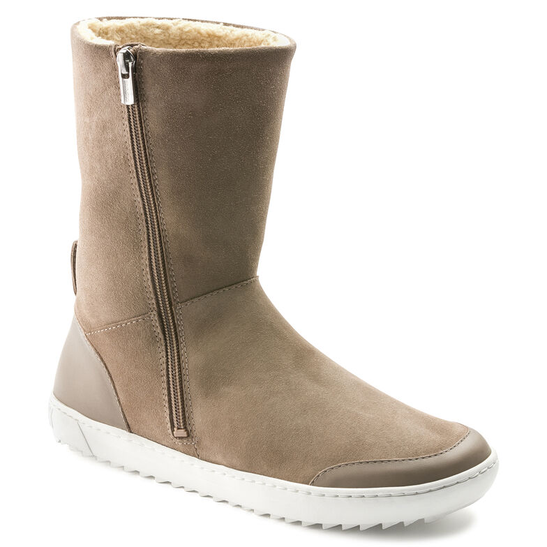 Fossholl Suede Leather Taupe