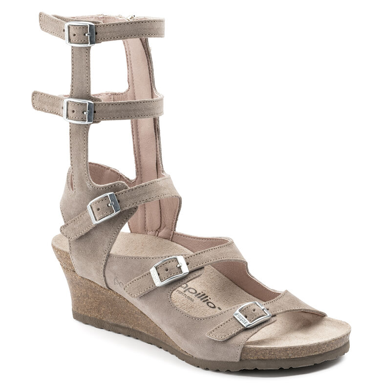 Elisa Suede Leather Smooth Taupe