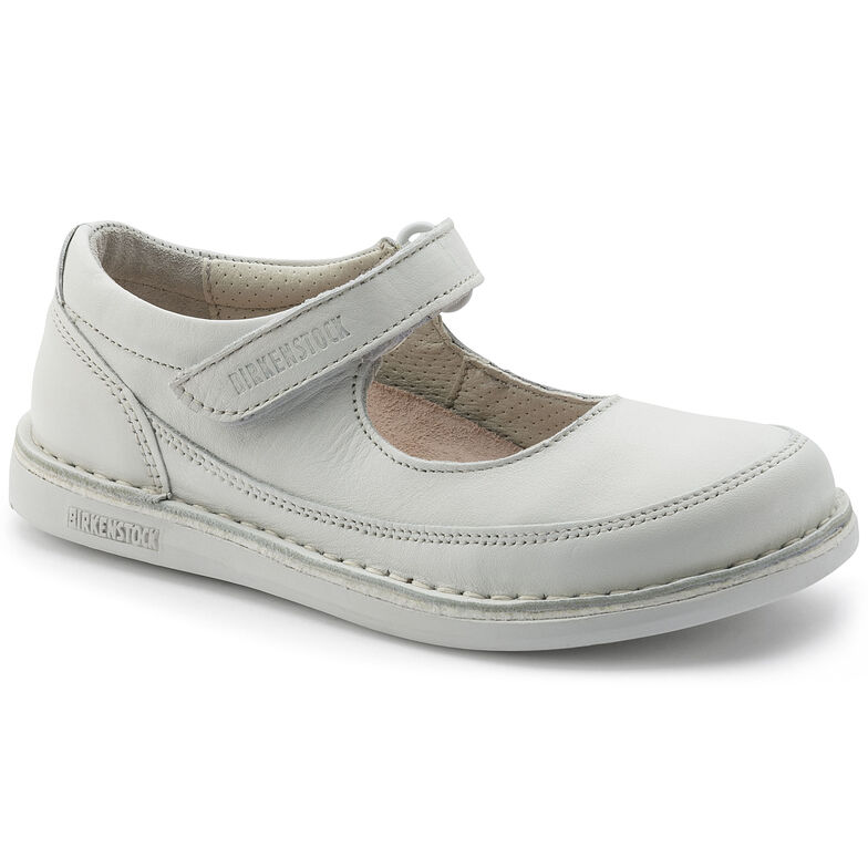 June Natural Leather White