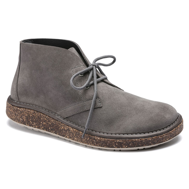 Milton Suede Leather Gray
