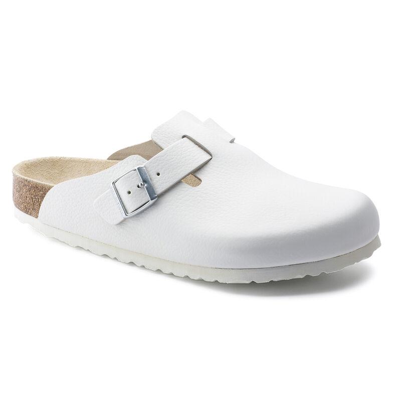 Boston Natural Leather White