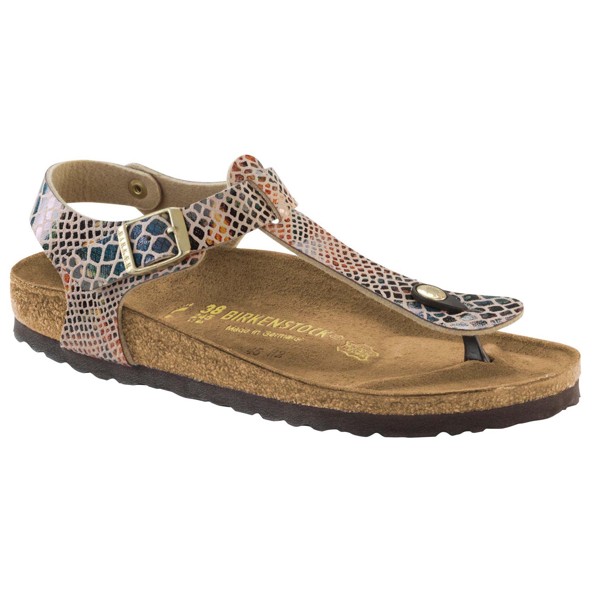 Damen Schuhe Designer Schlangenlederoptik Zehentrenner