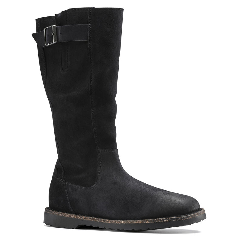 Melrose High  Suede Leather Graphite