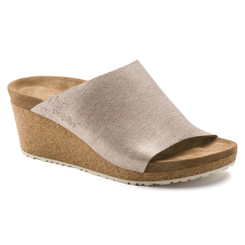 Namica Suede Leather Washed Metallic Rose Gold