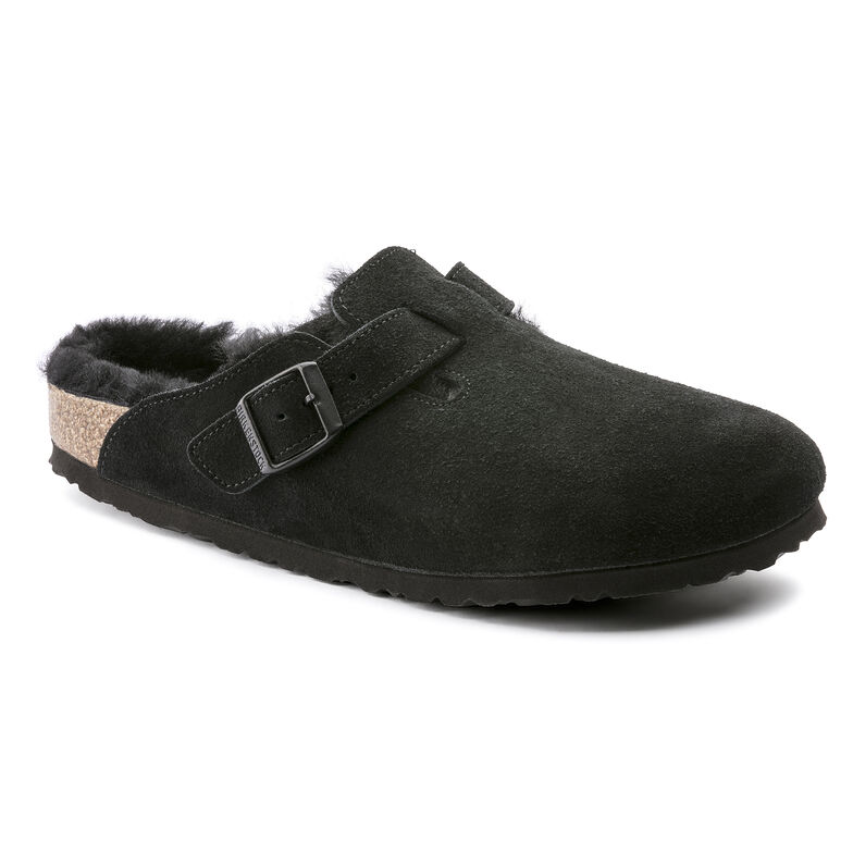 Boston Suede Leather Schwarz