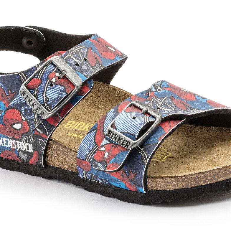 New York Birko-Flor Spiderman Action Blue