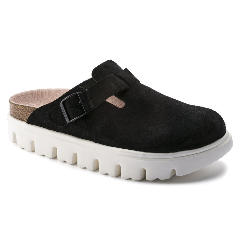 Boston Suede Leather Chunky Suede Black