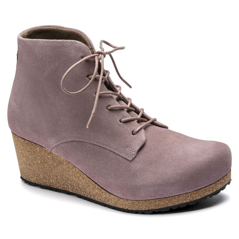 Edith Suede Leather Lavender Blush