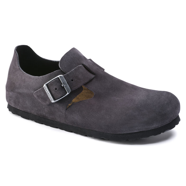 London Suede Leather Gunmetal