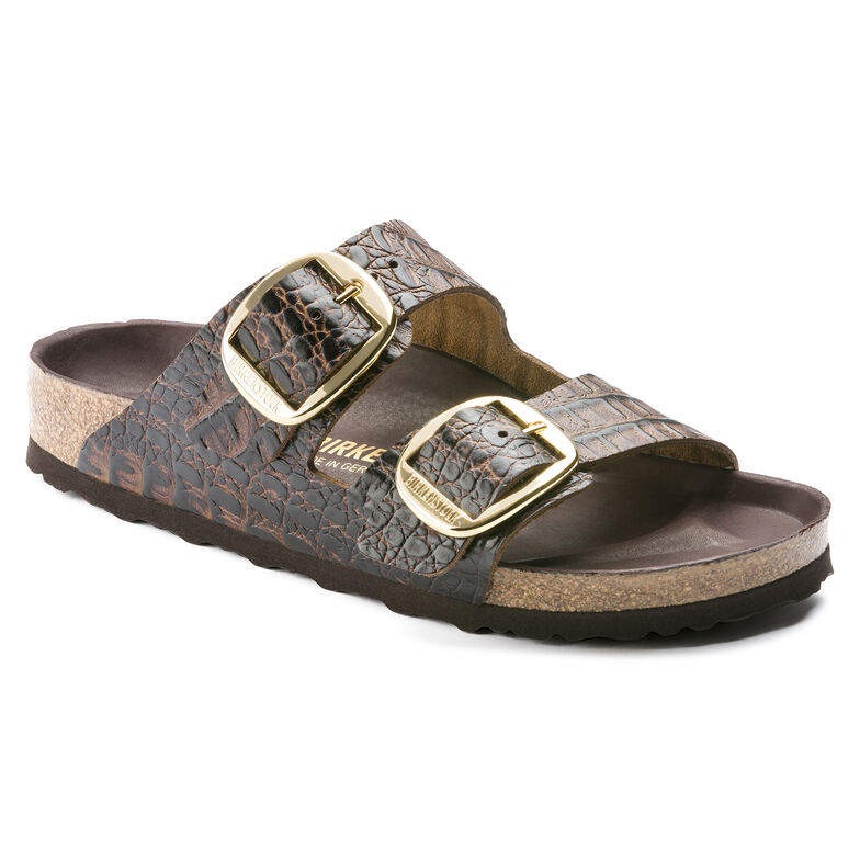 Arizona Embossed Natural Leather Gator Brown