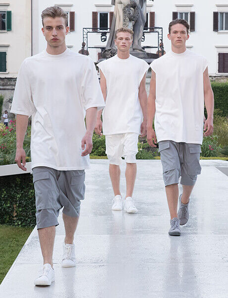 Spring Summer 19 Launch Event runway model in Birkenstock sneakers