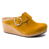 Fanny Ring-Buckle Suede Leather