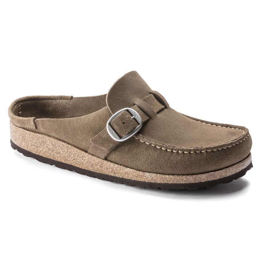 Buckley Suede Leather Gray Taupe