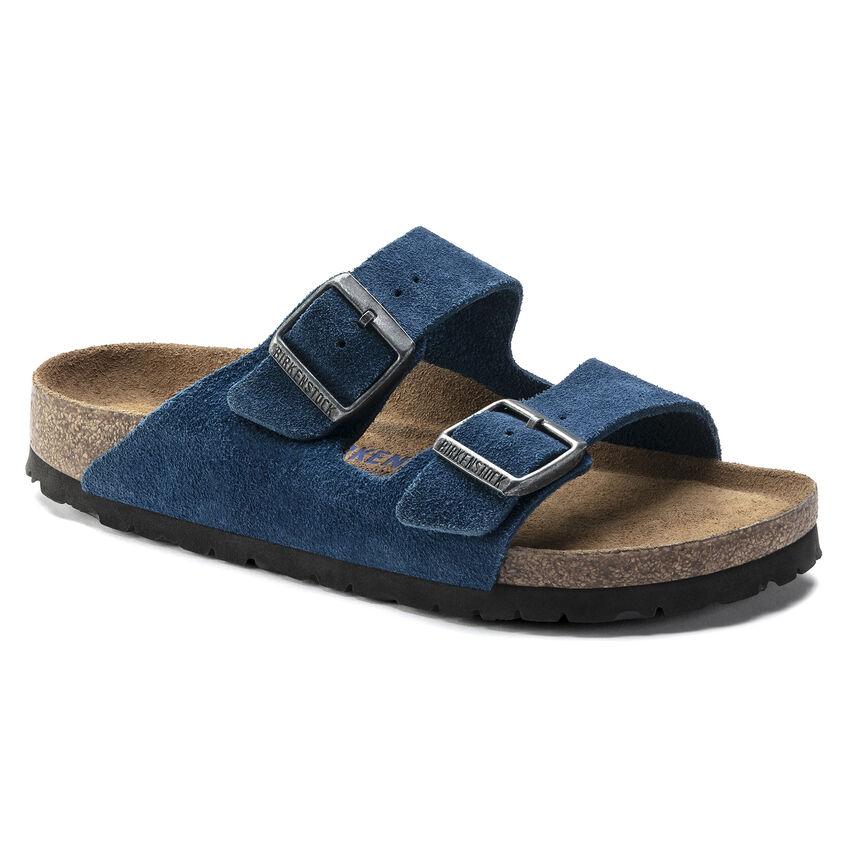 Arizona Suede Leather Moroccan Blue
