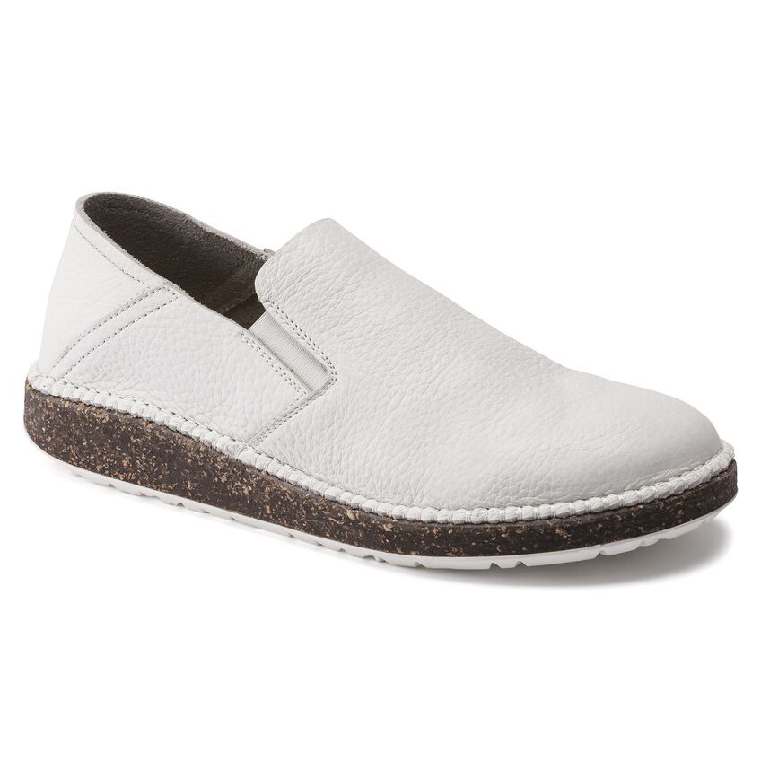 Callan Natural Leather White