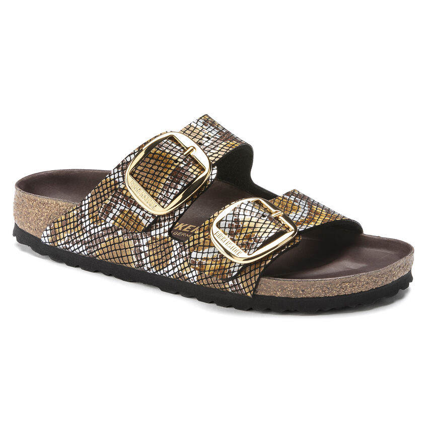 Arizona Big Buckle Micro Fibre Python Brown