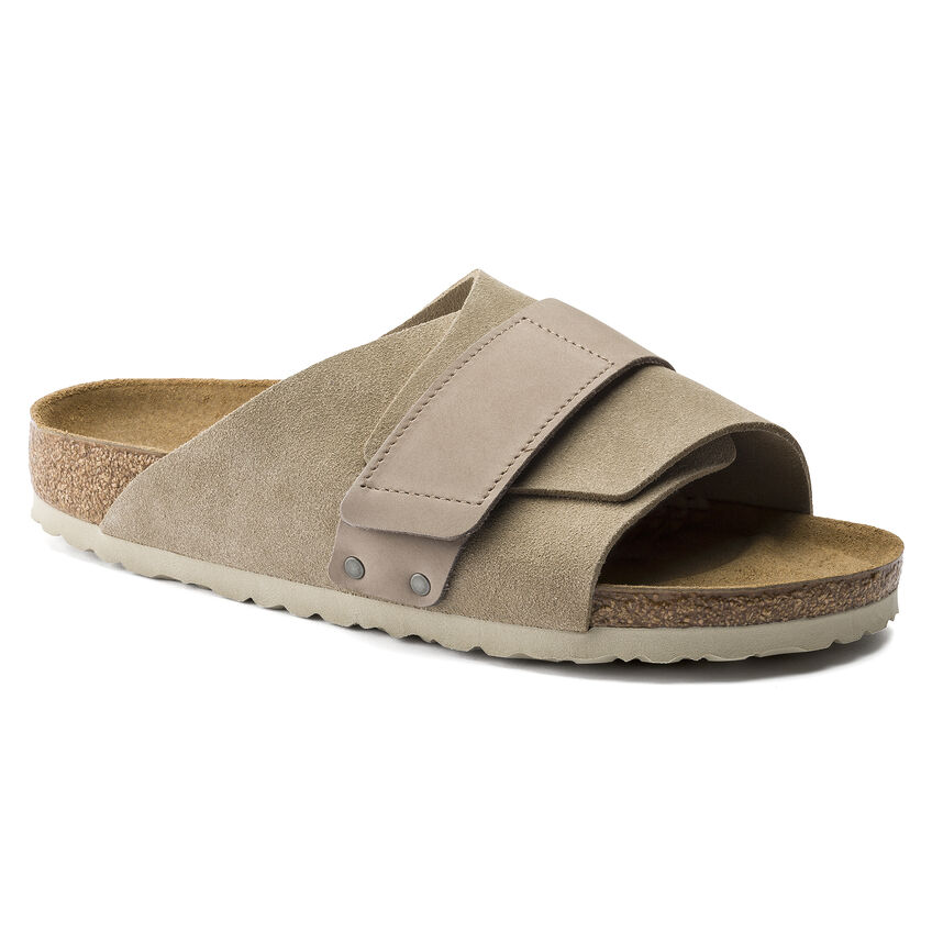 Kyoto Nubuck/Suede Leather Taupe