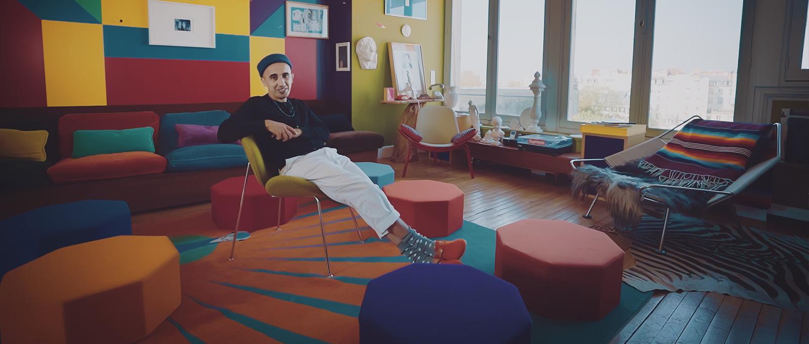 Ramdane Touhami at home in Birkenstocks