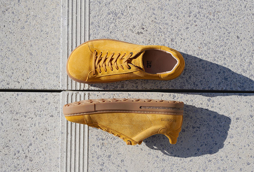 SHOP BEND SUEDE LEATHER OCHRE