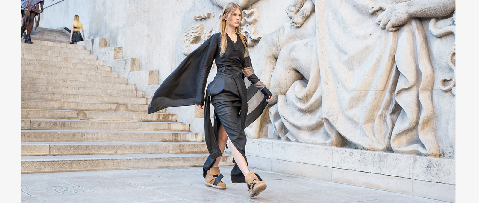 7f0446aa7007 BIRKENSTOCK AND RICK OWENS EXTEND THEIR SECOND SEASON COLLABORATION  PREMIERING WOMEN S STYLES AT THE SPRING SUMMER 2019 RICK OWENS  WOMENSWEARSHOW