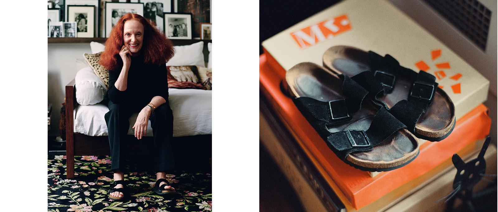 Grace Coddington in Birkenstocks