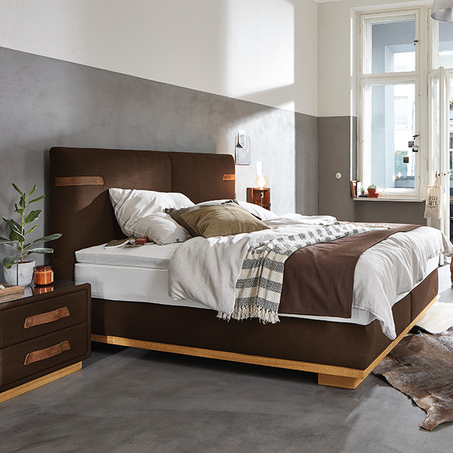 These four box-spring beds and two bed frame models all combine high levels  of quality, natural materials and typical design elements with careful ... bc94ea269a1e